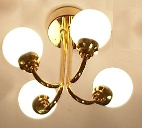 4 arm gold-plated ceiling fitting