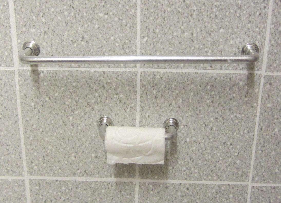 1:6 TOWEL RAIL + TOILET  ROLL HOLDER SET