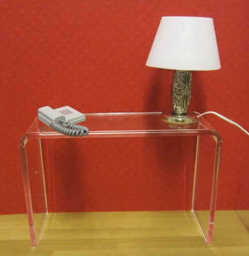 *SALE - LAST FEW* Clear acrylic console table