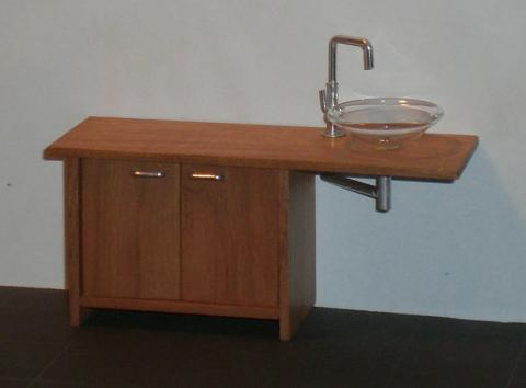*SALE* ELF Asymmetrical vanity unit - mahogany