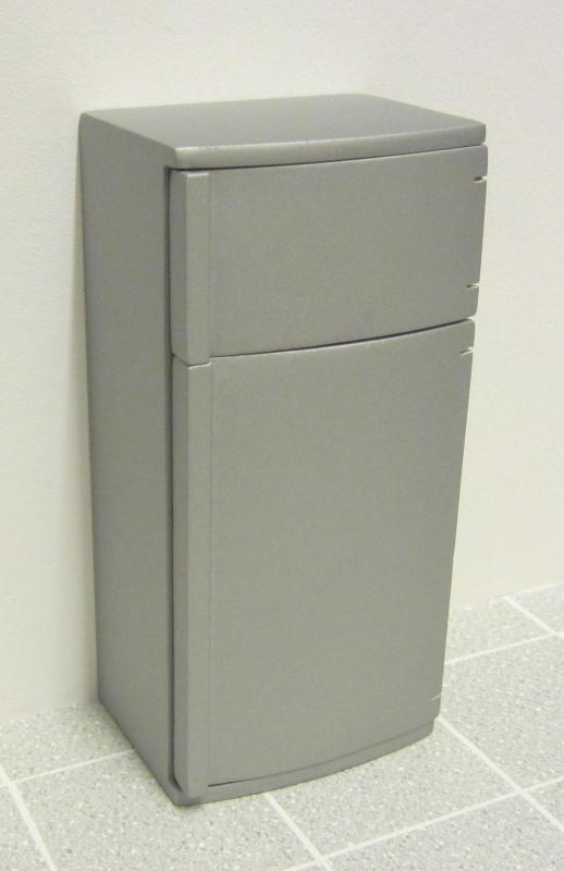 Economy fridge/freezer, silver