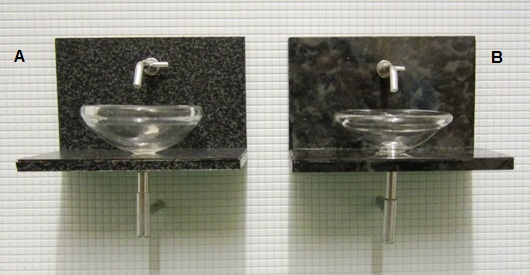 Granite and glass vanity unit