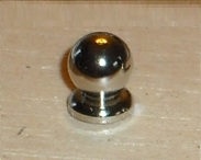 Contemporary chrome door knobs - pair