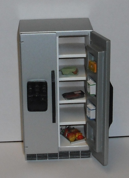 *SALE* Compact American style fridge - silver