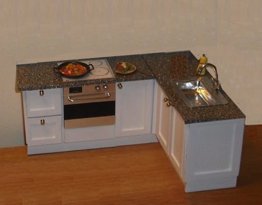COMPACT CORNER SHAKER STYLE KITCHEN