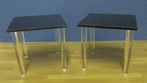 Compact  glass dining table