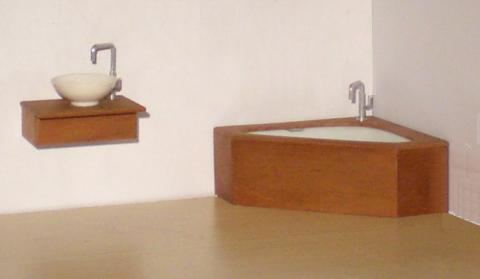*SALE - LAST TWO* Corner bathroom set