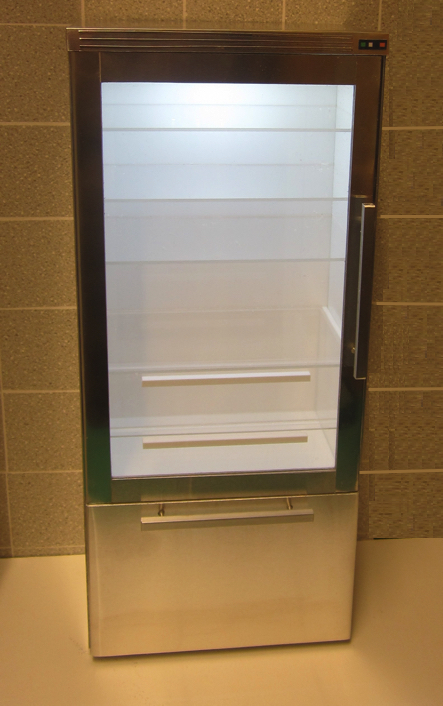 Playscale (1:6) glass-door fridge
