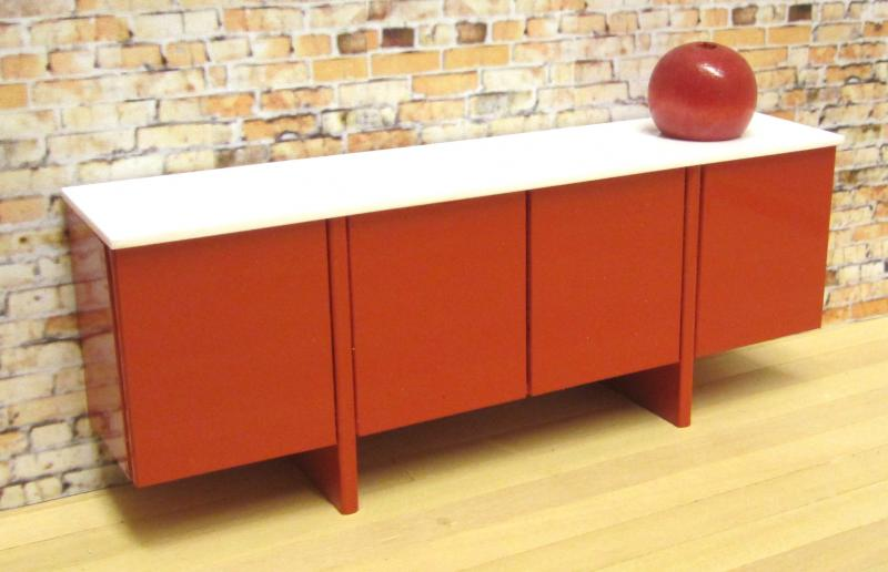 *ONE OFF *Bridge sideboard in red