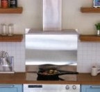 Steel splashback for hob/stove