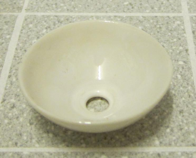 *SALE - SECONDS* Hand-made white china vanity bowl