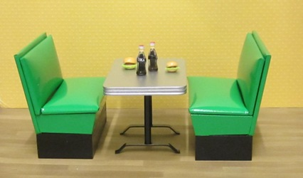 1950s booth set, green