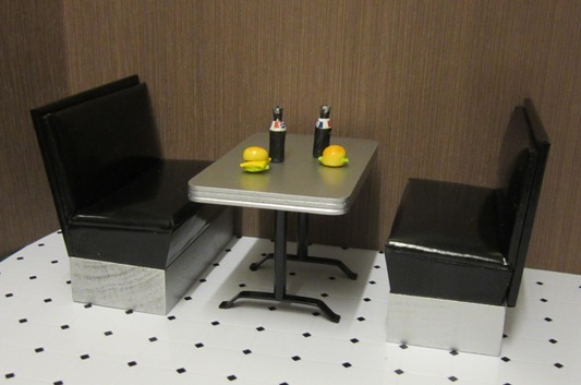 1950s booth set, black