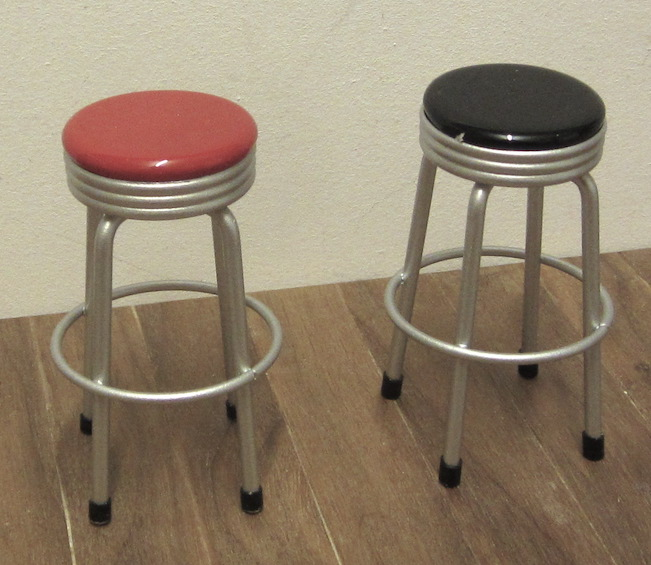 Bar stool - red or black
