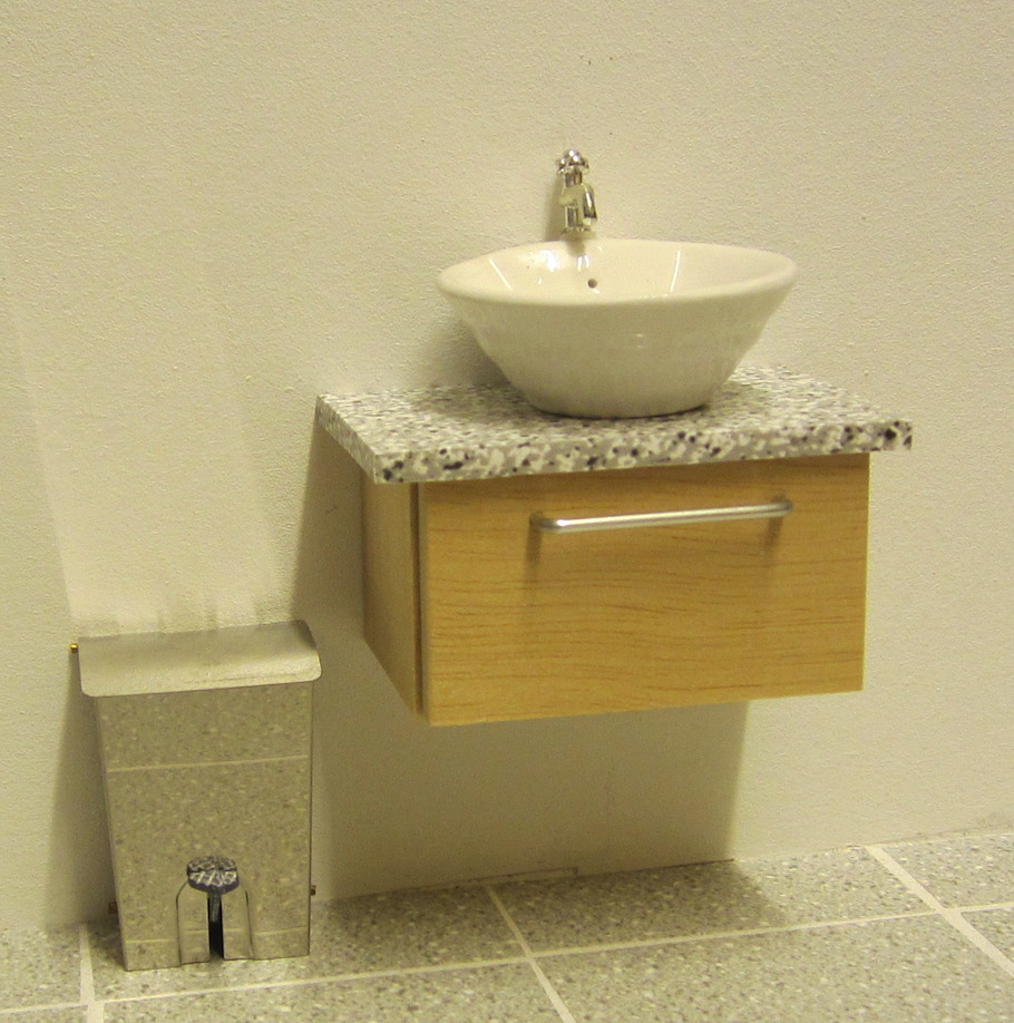 ELF Wall mounted vanity unit.
