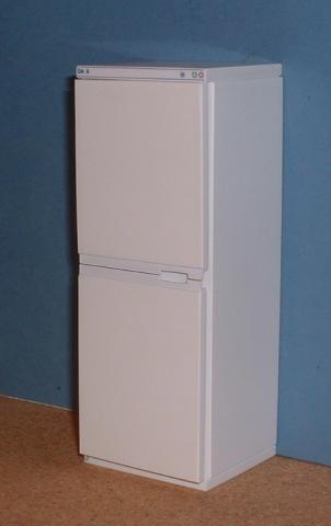 Upright fridge freezer - white (UK made)