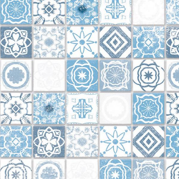 Embossed antique azure tiles