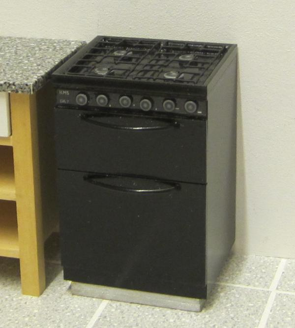 Black gas oven/stove