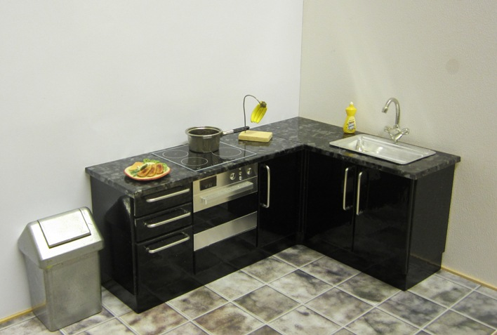 COMPACT CORNER KITCHEN (CHOICE OF FINISH)