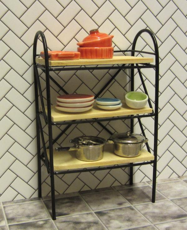 Kitchen shelves - black