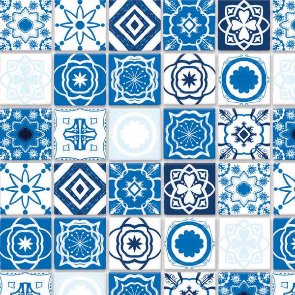 Embossed Blue mediterranean tiles