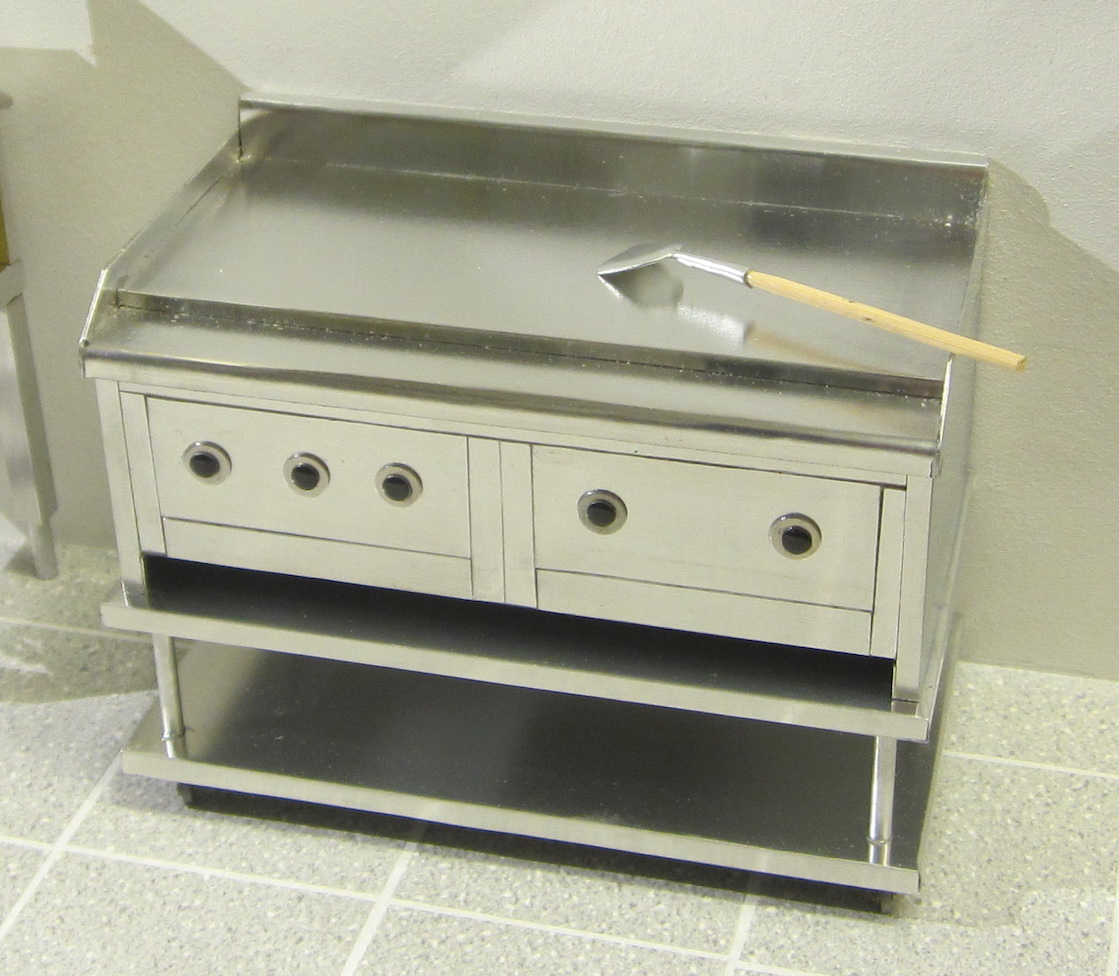 Commercial electric griddle and stand