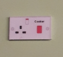 Cooker wall switch and socket