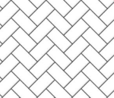 Herringbone metro tiles - dark grout