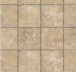 Embossed limestone tiles square