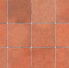 Embossed terracotta flooring