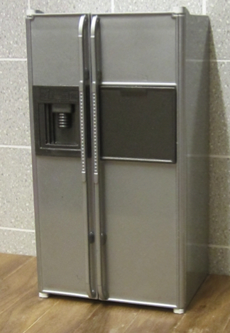 American style refrigerator - silver