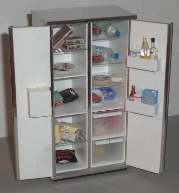 ELF American style fridge freezer with drinks di...