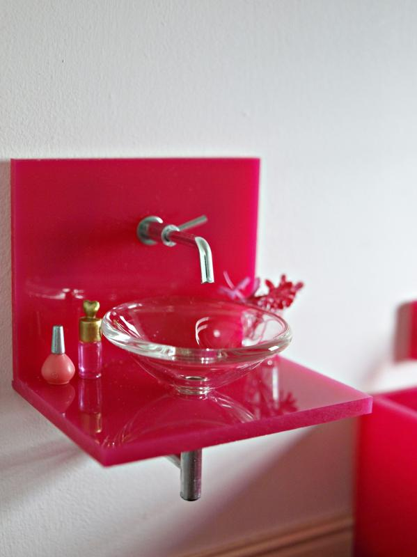ELF acrylic vanity unit - choice of colours
