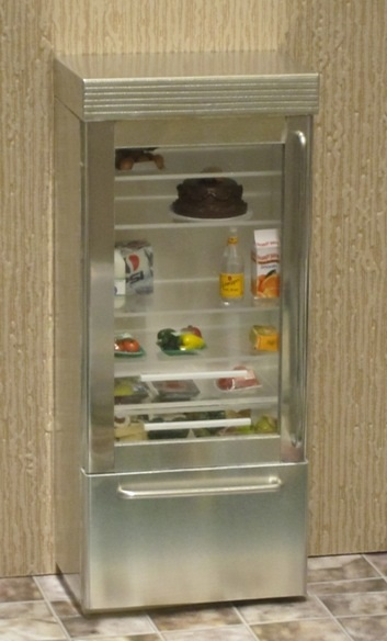 ELF Large American glass-door refrigerator