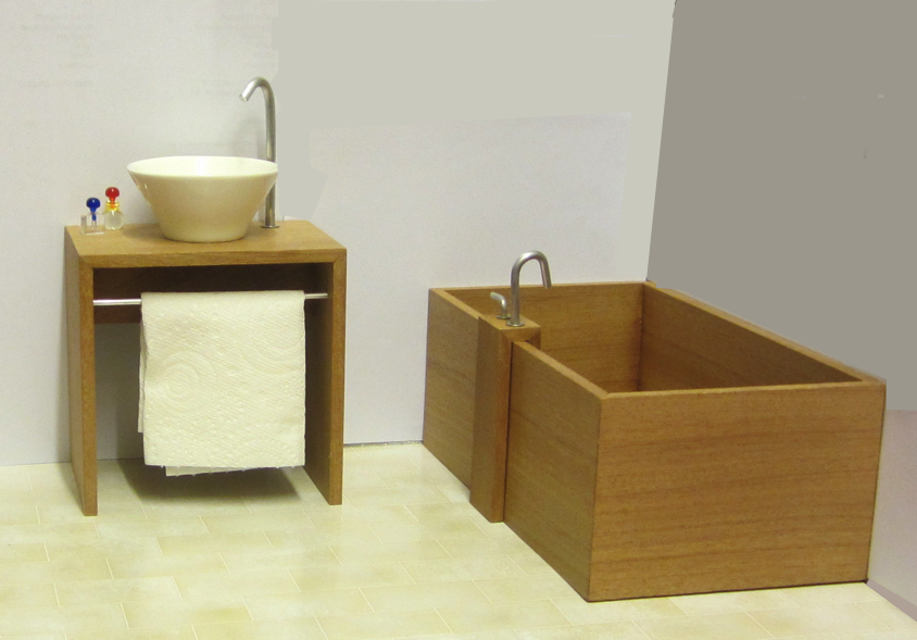Playscale (1:6)  tub and vanity