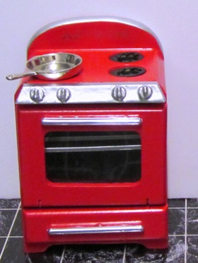 Retro stove, red