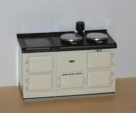 High quality four-oven Aga, opening