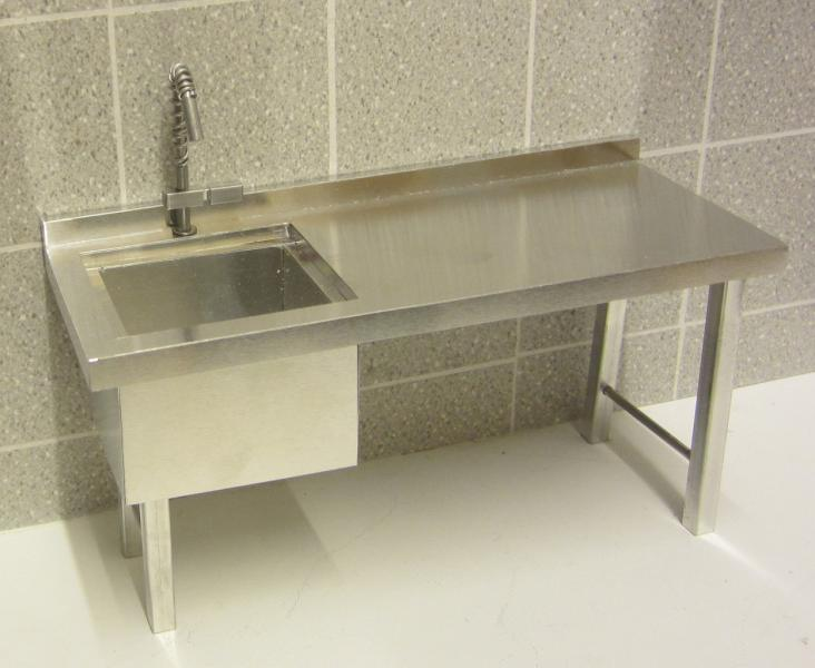 ELF Commercial prep bench with sink