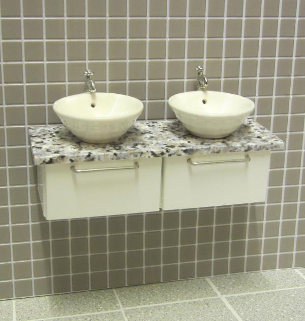 ELF Twin wall mounted vanity unit.