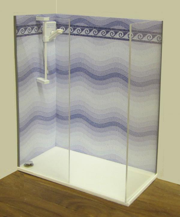 NEW Walk-in shower kit (white)