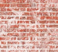 Embossed weathered white brick